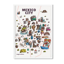 Mexico map print - Mytraveltoons