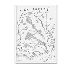 New Forest National Park Map - Dan Bell - Mapsy