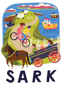 Sark map illustration art print