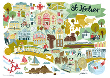 st helier map illustration print