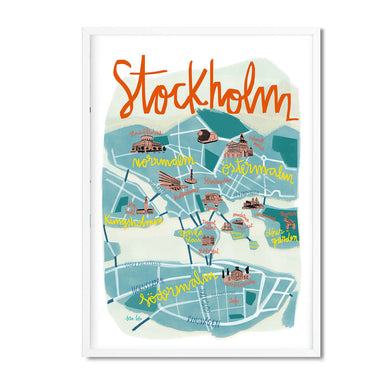 Stockholm illustrated map print - Sira Lobo