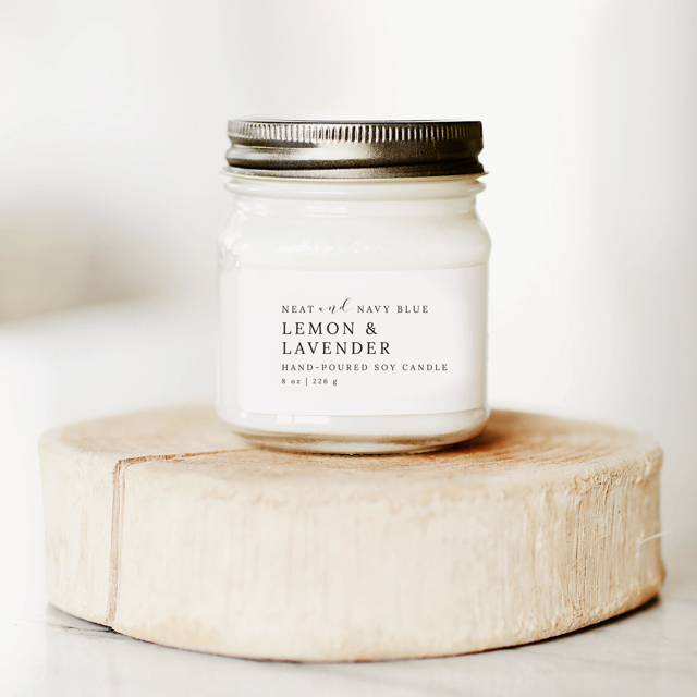 Lemon & Lavender | 8 oz Soy Candle