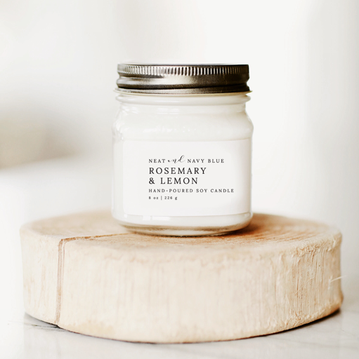 Rosemary & Lemon | 8 oz Soy Candle