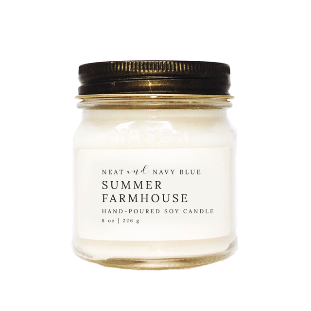 Summer Farmhouse | 8 oz Soy Candle
