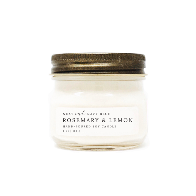 Rosemary & Lemon | 4 oz Soy Candle