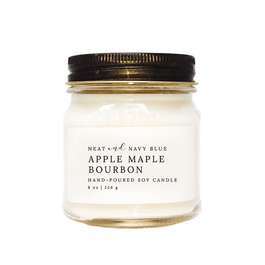 Apple Maple Bourbon | 8 oz Soy Candle