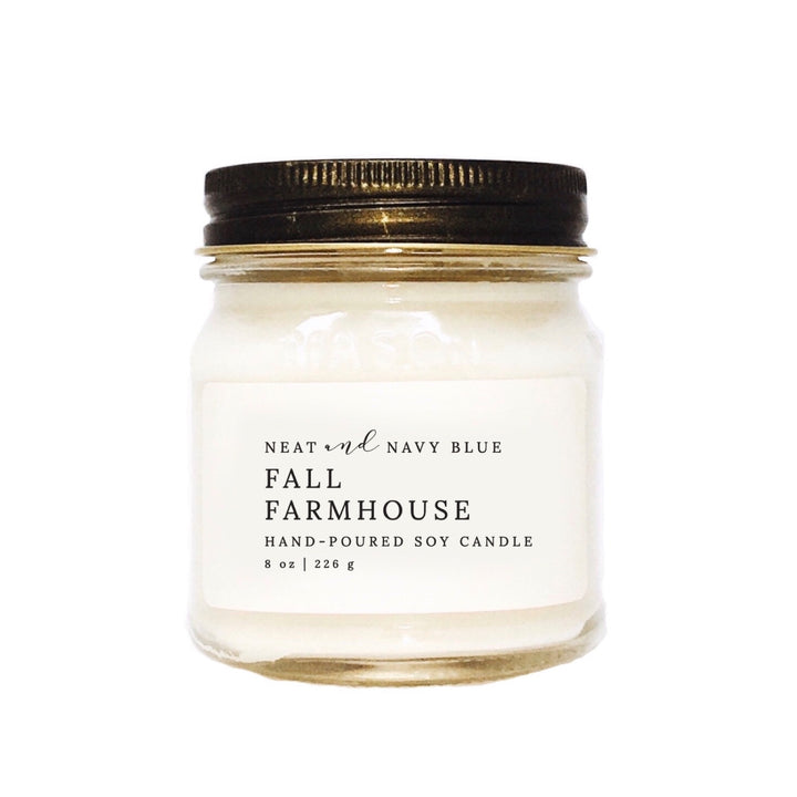 Fall Farmhouse | 8 oz Soy Candle