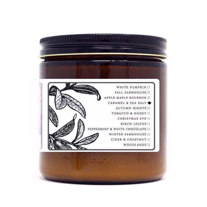 Caramel & Sea Salt | 12 oz Soy Candle