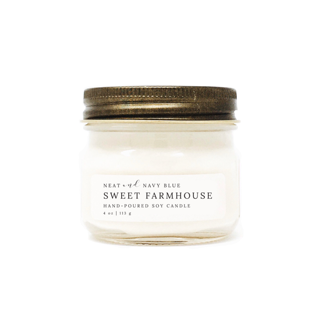 Sweet Farmhouse | 4 oz Soy Candle