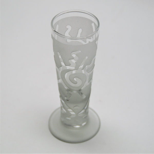 Clear Catalina Cordial Glass - Squiggle Ray Sun