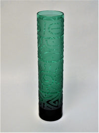 Emerald Green Glass Bud Vase