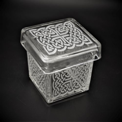 Glass Box with Celtic Knot Design-It's A Blast Glass Gallery-Tucson.jp