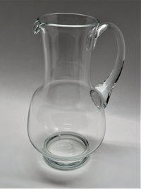Clear Krosno Hand Blown Pitcher
