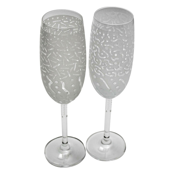 Schott Zwiesel Escapada Crystal Crystal Cordial Glass with Etched Before and After Designs - Pair