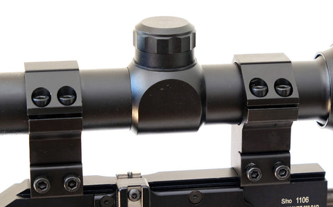 Atom 25mm ring high profile dovetail rifle scope mounts – In