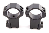 Atom 25mm ring high profile dovetail rifle scope mounts