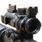 IYS 4x32 Prismatic rifle scope with fibre optic and illuminated reticle