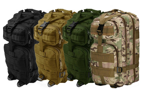 Militac Tactical Molle 30L Rucksack in Green, MTP, Tan and Black