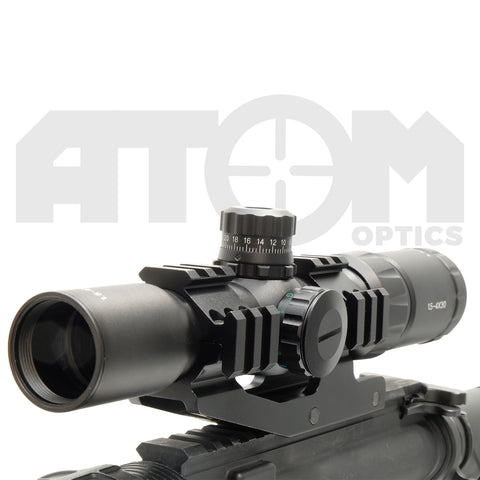 Atom 1.5-4x30 illuminated shockproof rifle scope