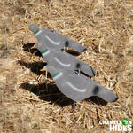 Chameleon 12 x Half body flocked pigeon decoys including ground peg