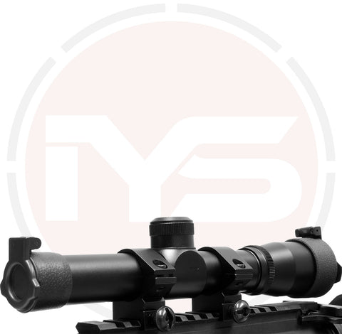 Atom 2x20 long eye relief pistol or crossbow scope