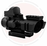 IYS 4x32 Prismatic rifle scope with top mounted red dot sight
