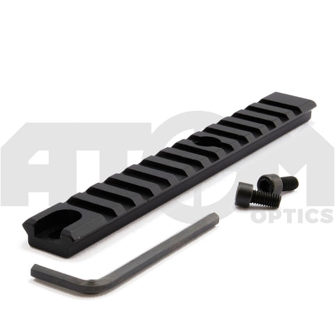 Atom 13 Slot 20mm Weaver Rail suits many Shotgun, Rifle or Airsoft applications