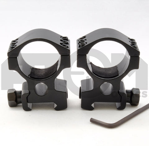 Atom 30mm ring high profile weaver rifle scope mounts