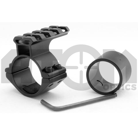 Atom 25-30mm scope, torch or laser mount with top weaver rail