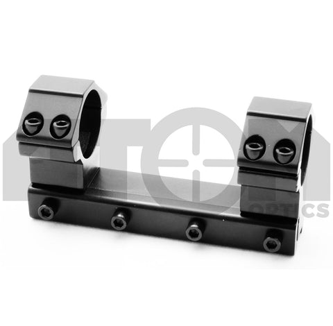 Atom 1 piece 25mm high profile rifle scope mount to fit dovetail rails