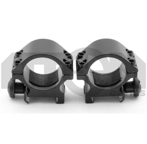 Atom 25mm ring low profile quick release weaver rifle scope mounts