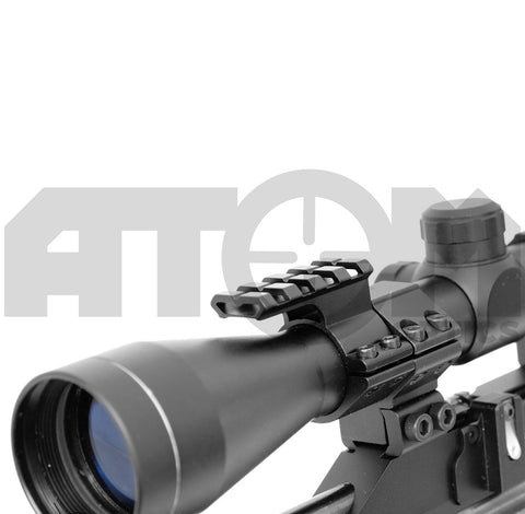Atom 25mm rifle scope, torch or laser mount with 20mm weaver rail