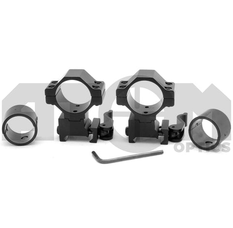 Atom Medium profile quick release rifle scope mounts to fit rifles fitted with 20mm weaver rails