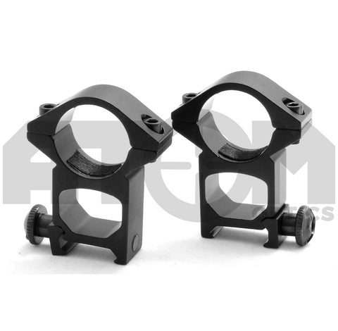 Atom See through weaver rail rifle mounts to fit 25mm rifle scope body