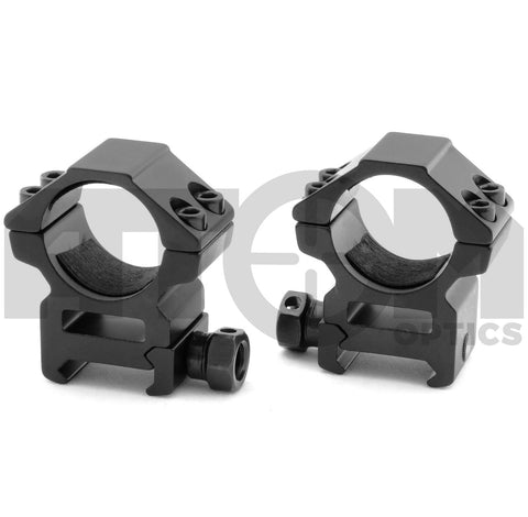 Atom Weaver rail quick release medium profile see through rifle scope mounts to fit 30mm rifle scope body