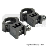 Atom 25mm Medium profile 20mm Weaver rifle scope mounts