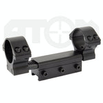 Recoil absorbing 30mm rifle scope mount / 1 piece Weaver rail scope mount