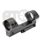 1 piece Dovetail rail scope mount / Forward reach 25+30mm scope rings mount