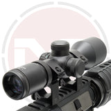 3-9x40 Compact lightweight Rifle scope or Crossbow scope with Red & Green reticle