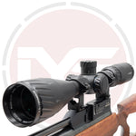 IYS 4.5-18x44 Shockproof Rifle scope with adjustable objective lens and supplied with mounts.