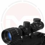 2-6x32 illuminated reticle rifle scope with mounts, sunshades and lens covers