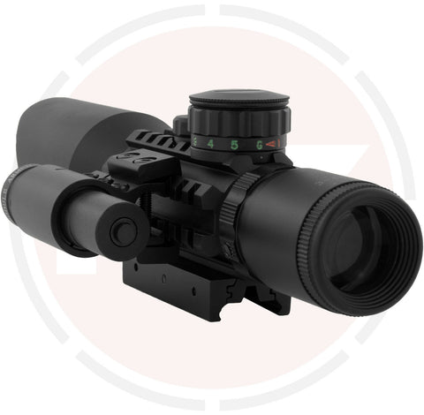 3-10x40 Red & green dot illuminated rifle scope / Airsoft sight +Red laser