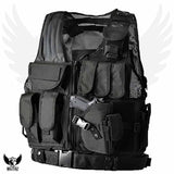Tactical Vest available in Black, Green and ACU / Combat Assault Airsoft Army Molle Attachment Rig Top