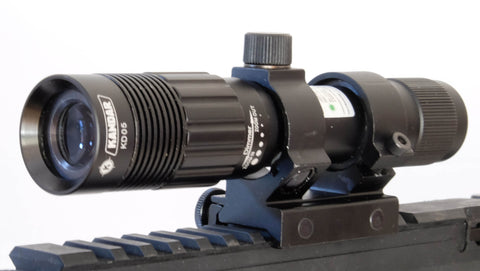 IYS Adjustable green laser flashlight designator with 20mm weaver rail mount