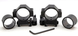 Atom 25+30mm ring quick release low profile weaver rifle scope mounts