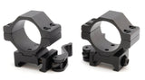 Atom Quick release low profile weaver rail rifle scope mounts to fit both 25 & 30mm rifle scopes