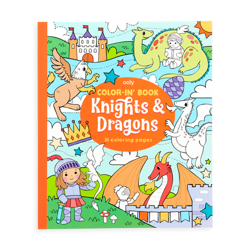 ooly - Color-in' Book: Knights and Dragons