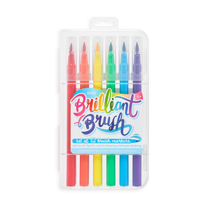 ooly - Brilliant Brush Markers - Set of 12