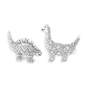 ooly - 3D Colorables - Dinosaur Friends - Set of 2