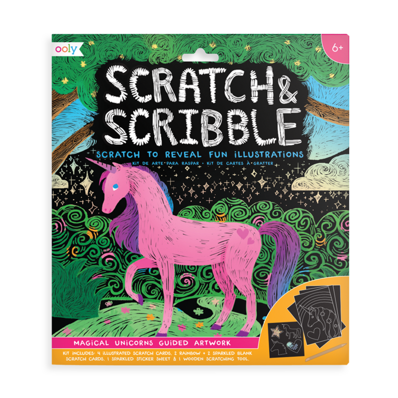 ooly - Magical Unicorn Scratch and Scribble Scratch Art Kit